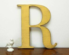 wall letter R wooden letters cottage decor signage by OldNewAgain, $32.00