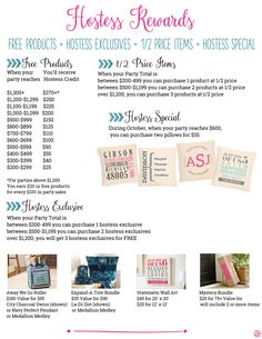 Thirty-One Hostess Rewards for October