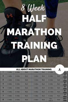 8 Week Half Marathon Training Plan: 2 months to the finish line!