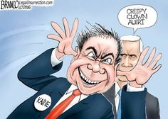 Vice Presidential candidate Tim Kaine made a fool out of himself in Tuesday's debate says cartoonist A.F. Branco.