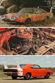 This Daytona Charger was discovered in a barn in Alabama just rusting away. people will run across a classic car that has been forgotten and is stashed in a … Dodge Daytona, Dodge Charger Daytona, Automobile, Plymouth Superbird, Dodge Muscle Cars, Roadster, Rusty Cars, Abandoned Cars, Exotic Sports Cars