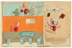 orange & aqua :: my favorite book... the incredible book-eating boy by oliver jeffers