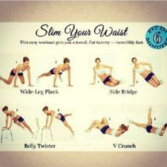 Slimming waist excersise