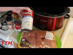 YouTube - Crockpot Chicken and Mushroom Soup