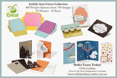 Christine's Creative Capers: Introducing the NEW Artfully Sent Cricut Collection