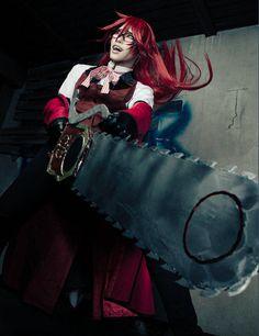 Black Butler/Kuroshitsuji- Grell cosplay. Well done!