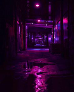 Berlin underground streets dangerous places magenta picture led pink lights and reflection over Bedroom Wall Collage, Photo Wall Collage, Picture Wall, Dark Purple Aesthetic, Violet Aesthetic, Vaporwave, Night Aesthetic, City Aesthetic, Aesthetic Iphone Wallpaper