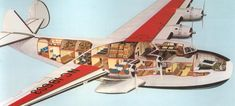 Cutaway diagram of a Pan Am Yankee Clipper    http://www.invisiblethemepark.com/wp-content/uploads/2009/08/PanAm-Yankee-Clipper.png