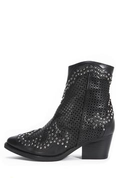 Jeffrey Campbell Shoes PAXTON STUD MUFFIN in Black Punch