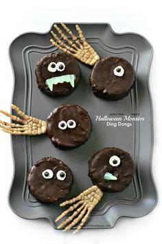 Halloween Monster Ding Dongs -  gluten-free and vegan