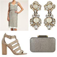 You can looking dashing at an upcoming wedding in the Zuzana Veselá burnout velvet dress with satin trim. Pair it with a DVF - Diane von Furstenberg bag, Dune London shoes and a striking pair of Erickson Beamon earrings & you've got the making of something great! #weddingweek #whattowear #bestdressedguest  #dunelondon #ericksonbeamon #dianevonfurstenberg