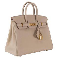 Hermes Handbag Birkin 25 Togo Craie Gold Hardware 2015. 2