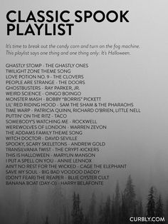 A Halloween playlist for everyone! 80 songs to usher in this creepiest of seasons. From dance numbers to Day-O, there's a playlist sure to spooky you. Halloween Tags, Halloween Music, Halloween 2019, Holidays Halloween, Halloween Crafts, Happy Halloween, Halloween Decorations, Halloween Party, Spooky Music