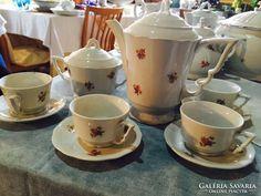 Zsolnay,manófüles kisvirágos kávés, mokkás készlet Tea Cups, Retro, Tableware, Dinnerware, Dishes, Teacup, Rustic, Tea Cup, Mid Century