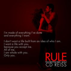 CD Reiss is Absofreakinlutely Brilliant ! RULE (Corruption Series Book #3) The epic, staggering, intense conclusion to an extraordinary series! https://www.amazon.com/Rule-Mafia-Romance-Corruption-Book-ebook/revi..