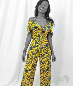 f914d5c1966 Wide leg African print Ankara jumpsuit dress ~ African fashion ...