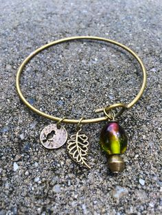 Nature Themed Alex and Ani Inspired Bracelet by zikkys on Etsy