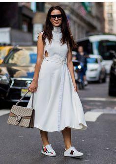 White dress   Streetstyle