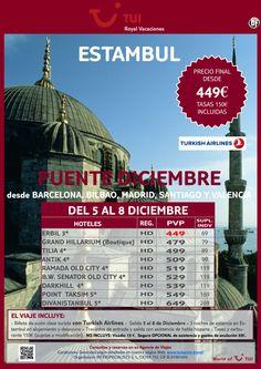 Puente de Diciembre estancia en Estambul. Precio final desde 449€ - http://zocotours.com/puente-de-diciembre-estancia-en-estambul-precio-final-desde-449e/