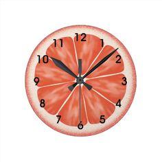 De roze Plak van de Citrusvruchten van de Ronde Klok Medium