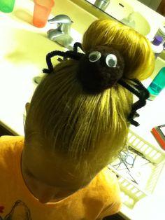 Spider bun hair