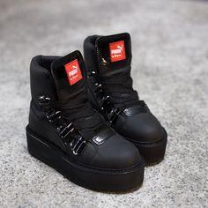 RIHANNA X PUMA Black Sneaker Boots