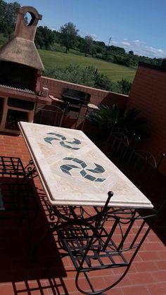 Basi In Ferro Per Tavoli Da Giardino.119 Fantastiche Immagini Su Tavoli In Pietra Da Giardino