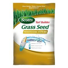 Scotts Turf Builder Pennsylvania State Mix Mixture/Blend Grass Seed at Lowe's. Grow a lawn that can thrive in the extremely sunny and shady areas of Pennsylvania with Scotts Turf Builder Grass Seed Pennsylvania State Mix. Label Design, Box Design, Packaging Design, Grass Seed Types, Turf Builder, Pergola Pictures, Pergola Designs, Product Label, Lawn Care