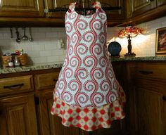 Designer Christmas Apron by Mimismagicapron on Etsy, $45.00