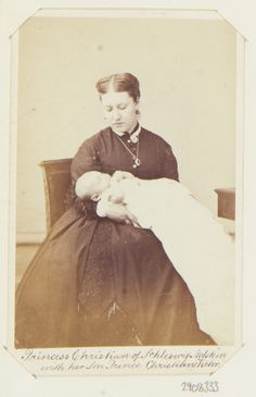 Unknown Person - Princess Christian of Schleswig-Holstein with her son, Prince Christian Victor