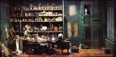 Miniaturist Ronan-Jim Sevellec. Realistic miniature work area.