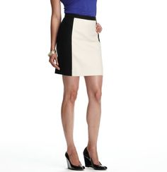 Black & White Colorblock shift skirt,  like the cobalt blue, I have done red with this.