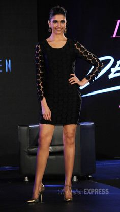 Deepika Padukone sizzled in a little black dress with metallic pumps for the ramp at a Van Heusen show Mumbai. Indian Celebrities, Bollywood Celebrities, Bollywood Actress, Dipika Padukone, Deepika Padukone Style, Metallic Pumps, Indian Film Actress, Models, Express Dresses