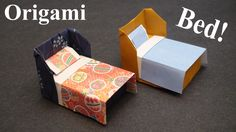 How to make a Doll House Bed with Bedding Origami (Paper craft) - TCGame...