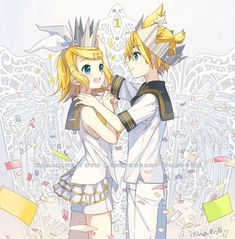 Me and my bro decided we're going as rin and len for Halloween next year :) problem is len is gonna be like half the height of rin xD