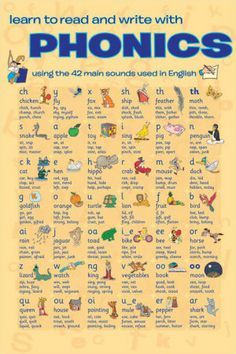 Learn to Read with Phonics - The 42 primary phonemes of the English language. Great school activity for teaching literacy. Phonics Reading, Teaching Phonics, Teaching Reading, Teaching Kids, Reading Skills, How To Teach Phonics, Teaching Letters, Primary Teaching, Reading Comprehension