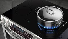 Samsung's New Induction Stove Features Fake LED Flames...and they're pretty cool!