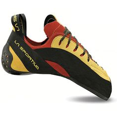 Down-turned edging power is what you get in the brilliantly designed, high-performance La Sportiva Testarossa climbing shoes. They're perfectly suited for steep sport routes and difficult bouldering. Hobbit Feet, Rock Climbing Shoes, Adidas, Wedge Boots, Comfortable Shoes, Me Too Shoes, Casual, Modeling, Footwear