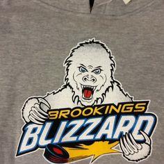 Gray Bernie Sweatshirt $35 #BrookingsBlizzard #BlizzGear #hockey #merchandise