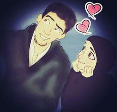 Romantic pictures, romantic love quotes, love you hubby, anime muslim
