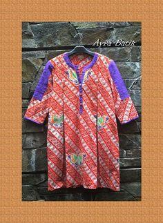 batik dress Batik Fashion, Batik Dress, Simple Dresses, Blouse, Clothes, Tops, Women, Blouse Band, Simple Gowns
