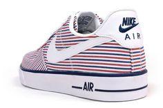 "Nike Air Force 1 AC ""Red, Blue & White Stripes"""