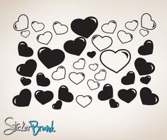 Vinyl Wall Decal Heart Bubbles #CSJean104 | Stickerbrand wall art decals, wall graphics and wall murals.