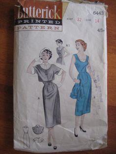 Abito e giacca Bolero di cartamodelli 6443-1950 di TiffanysNotions su Etsy https://www.etsy.com/it/listing/127516783/abito-e-giacca-bolero-di-cartamodelli