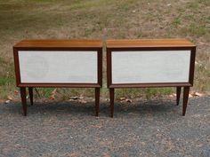 "MID-CENTURY Vintage Speaker Cabinets University Sound 8"" Diffusicones #UniversitySound"