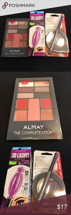 Almay Eyeshadows, Lipstick, Liner,CovergirlMascara Almay Eyeshadows, Lipstick, EyeLiner, Covergirl Black Mascara. All New Price for all. Almay Makeup Eyeshadow