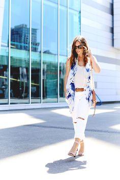 White on white with a touch of tie dye. #style #fashion #tiedye #white #summer