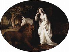 Portrait of Isabella Saltonstall as Una – George Stubbs