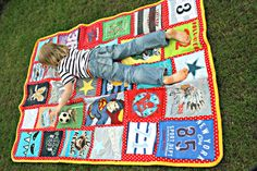 Jungsquilt aus alten Shirts / Boys' quilt made of old shirts / Upcycling