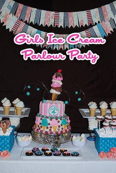 Very nicely put together ice cream parlour party